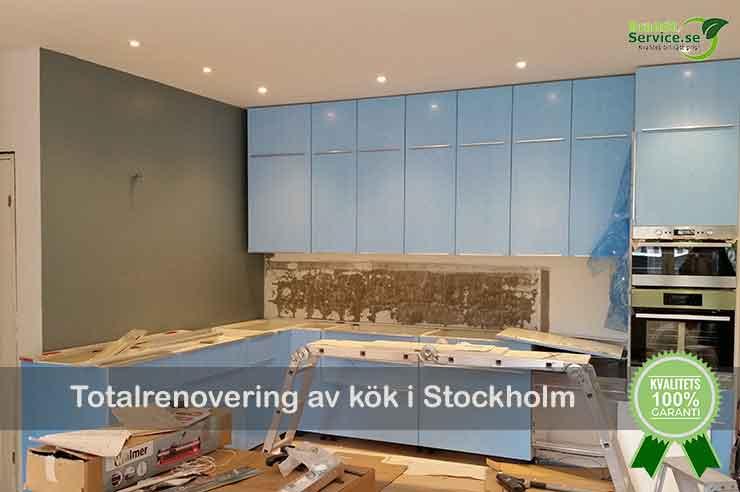 Total köksrenovering Stockholm
